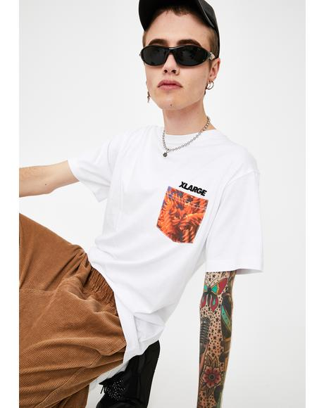 White Ingredients Standard Logo Pocket Tee