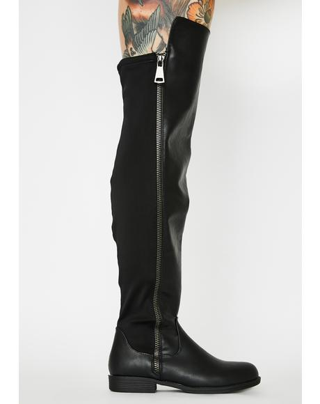 Gone Undercover Knee High Boots