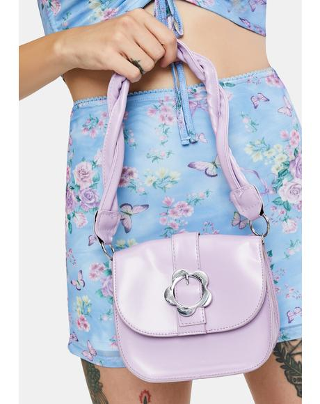 Lilac Flower Power Vibes Shoulder Bag