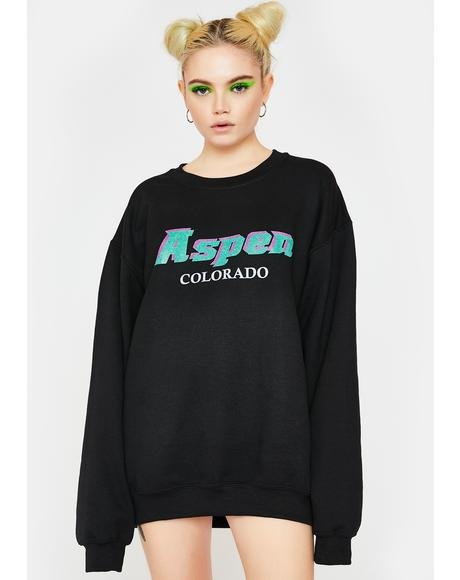 Aspen Oversized Crewneck Sweater