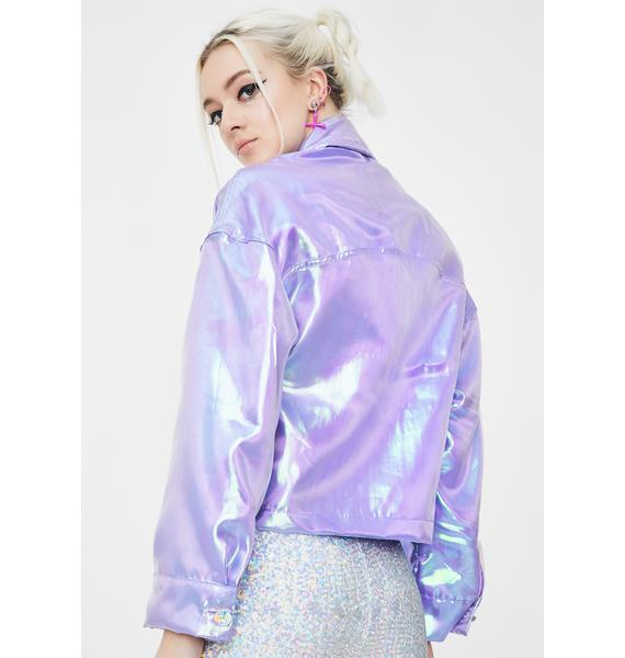 Sparkl Fairy Couture Lilac Fairy Dust Iridescent Jacket
