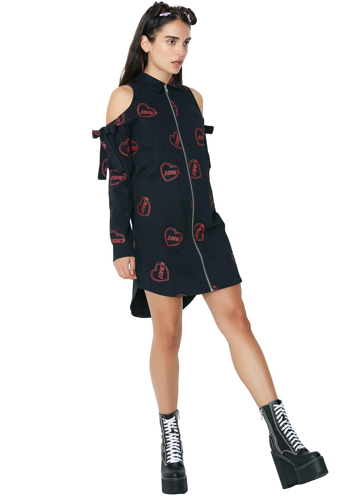 Lazy Oaf Cold Shoulder Loner Dress