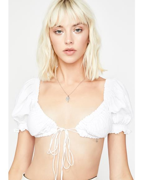 Icy Iconic Innocence Crop Top