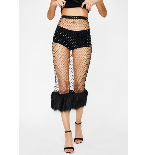 Kiki Riki Haute Heathen Rhinestone Skirt