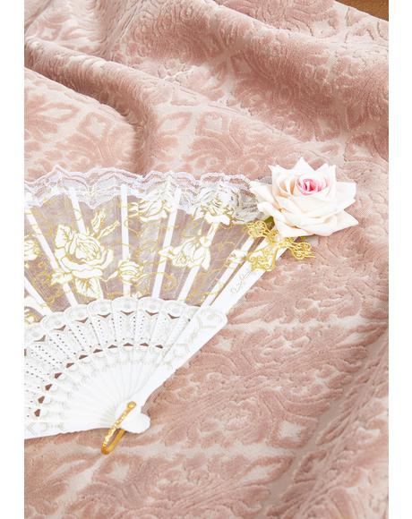 Ivory Lunar Romance Lace Fan
