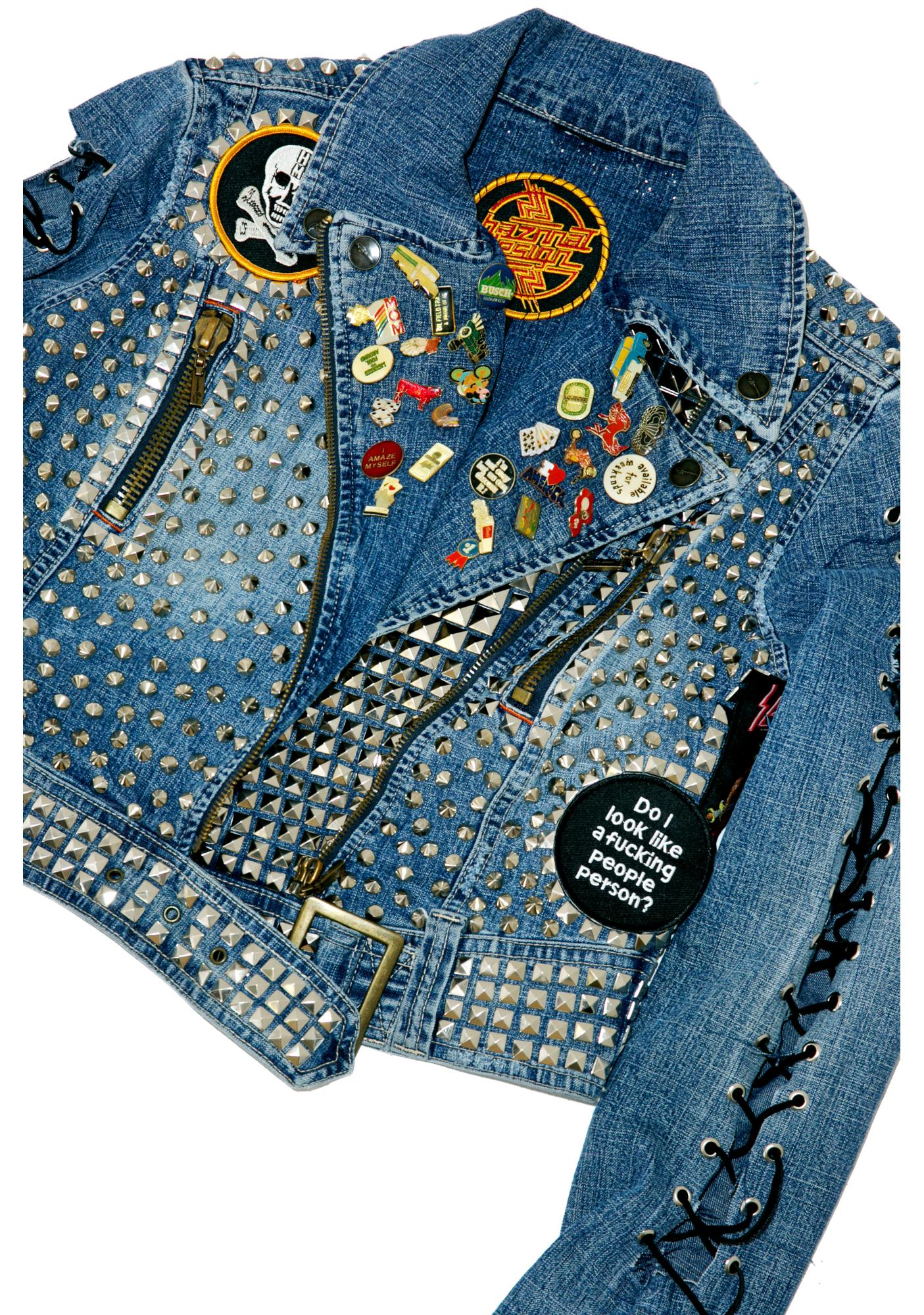 Hazmat Design Vintage Deadstock Black Sabbath Studded Denim Jacket