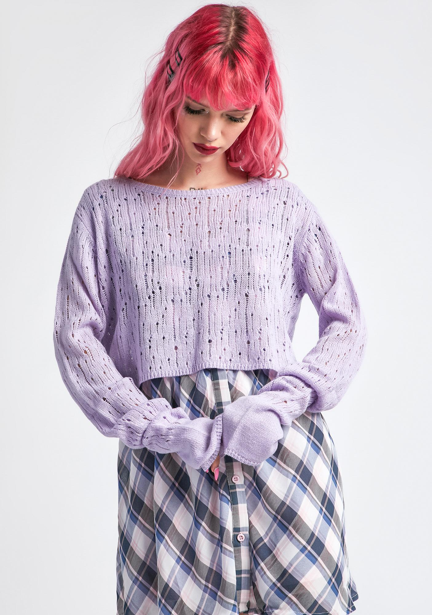 dELiA*s by Dolls Kill Duh Squared Knit Sweater