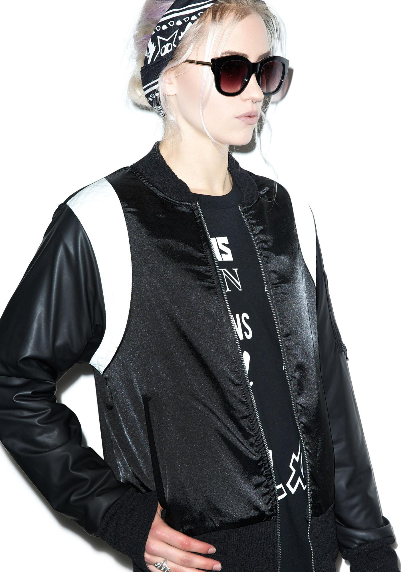 Sporty Strike Bomber Jacket