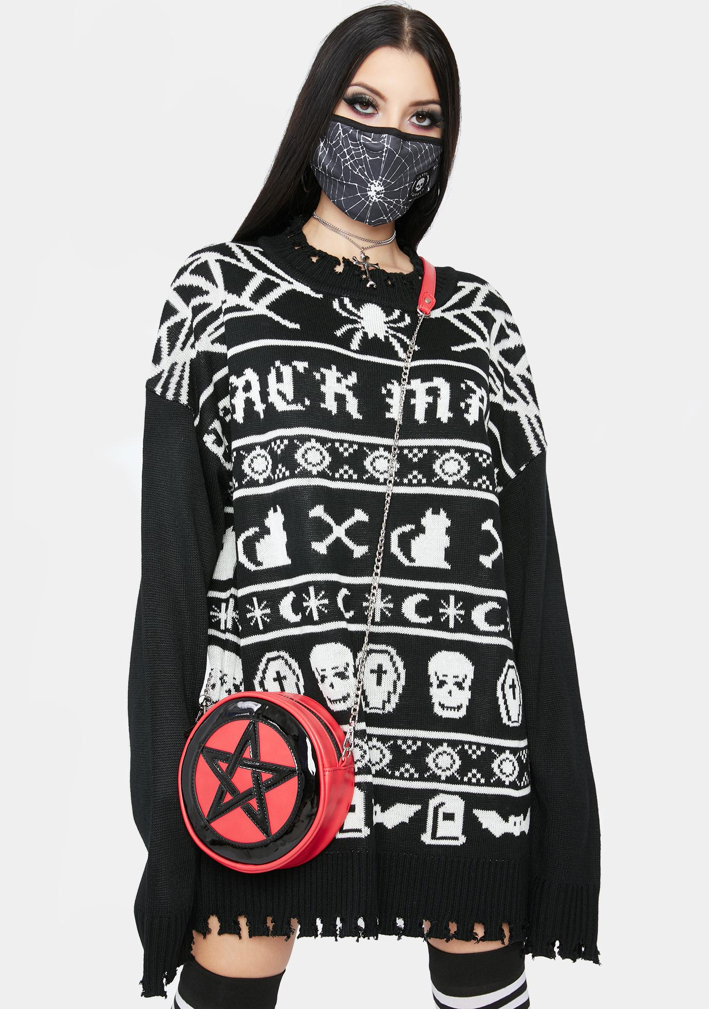 Dolls Kill Holiday Spiritz Halloween Sweater