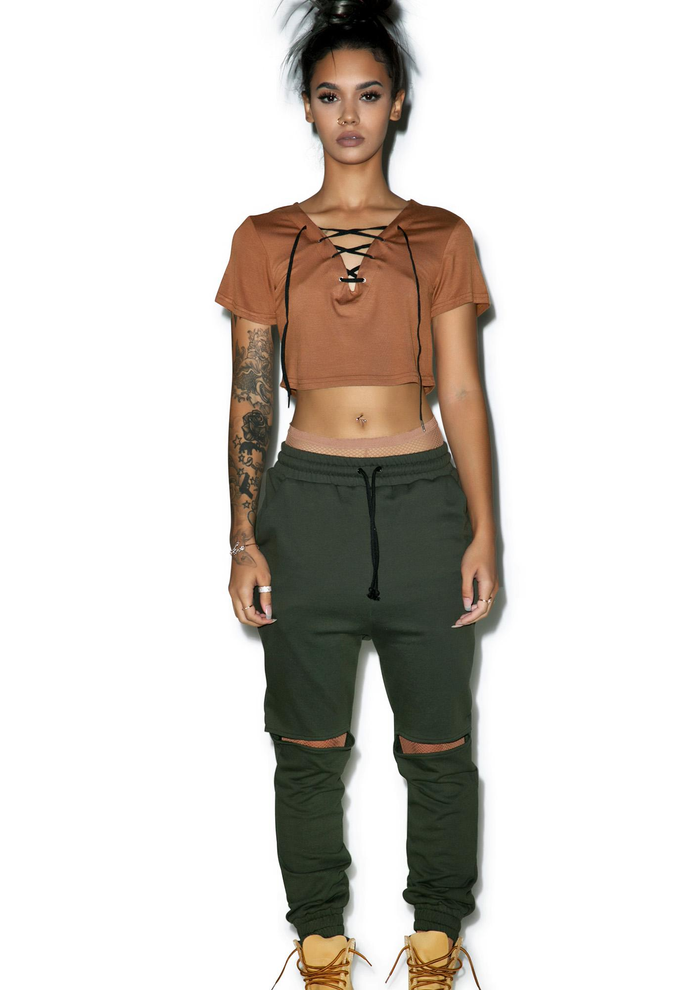 Durango Lace-Up Crop Top