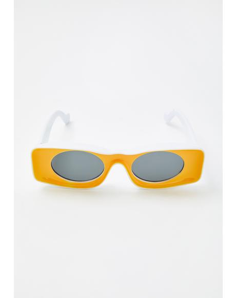 In Retrospect Rectangle Sunglasses