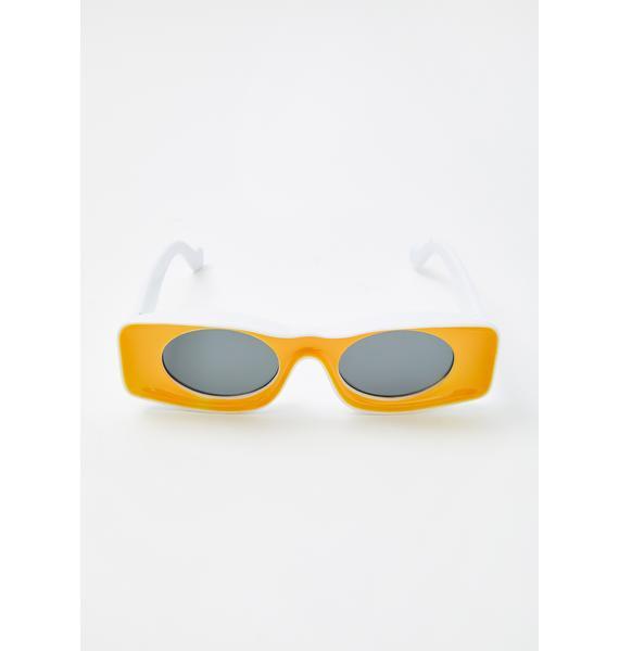 In Retrospect Rectangle Sunglasses