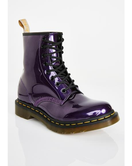 1460 Vegan Violet Chrome Boots