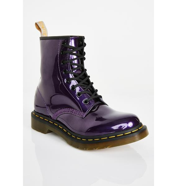 Dr. Martens 1460 Vegan Violet Chrome Boots