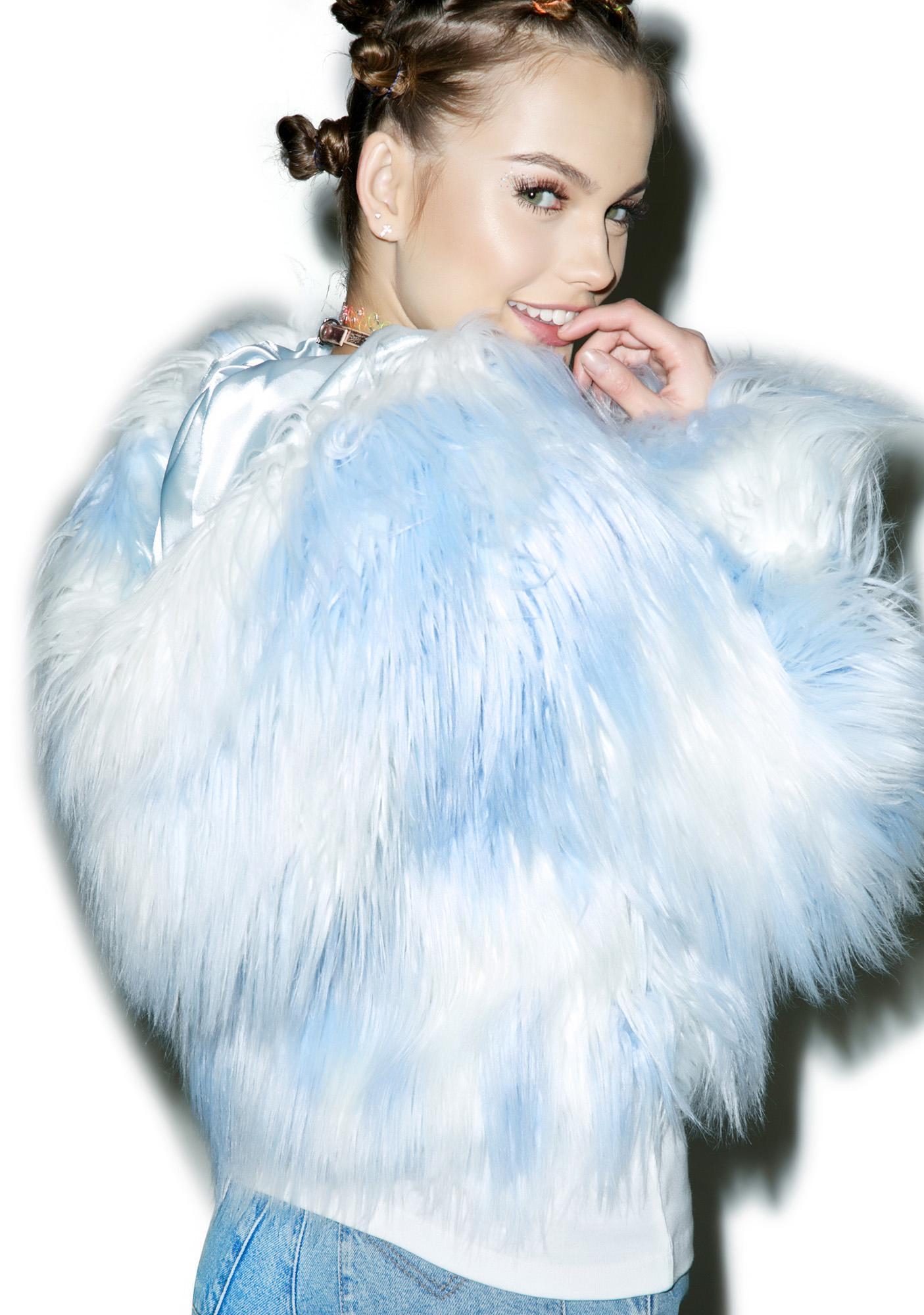 24HRS Faux Fur Sky Phenomena Coat