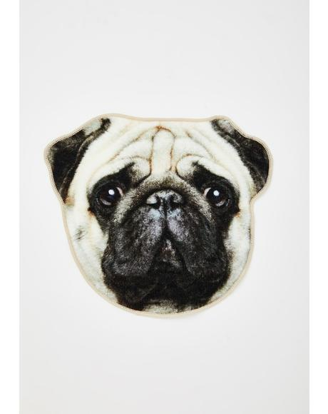 Pug Life Face Towel