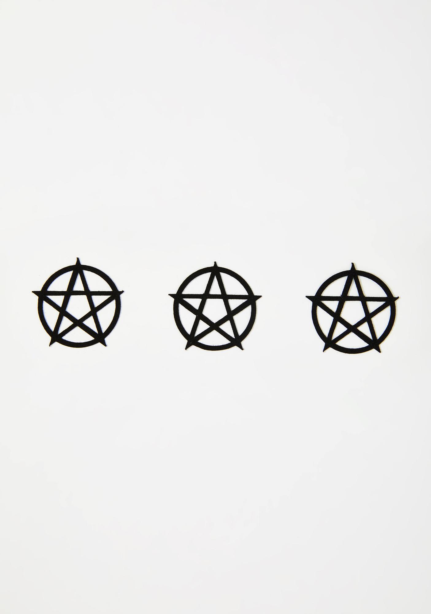 Magic Markings Pentacle Face Sticker