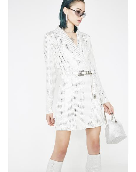 Snappin' Sparkle Blazer Dress