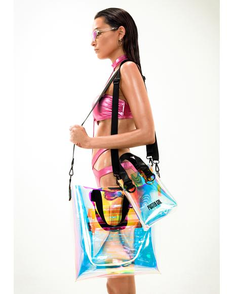 Splash Zone Iridescent Tote Bag