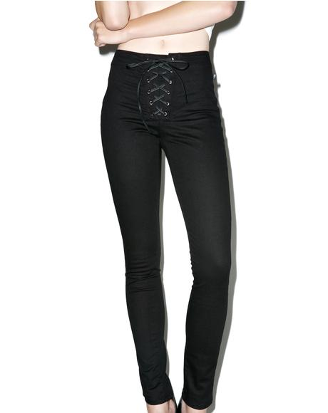 High Waisted Corset Pants