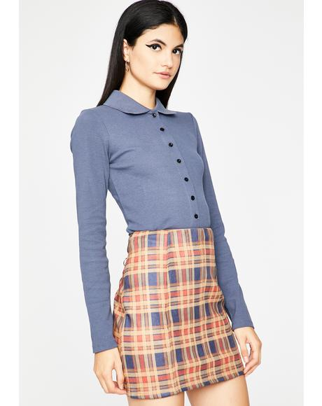 Let's Get Serious Plaid Skirt
