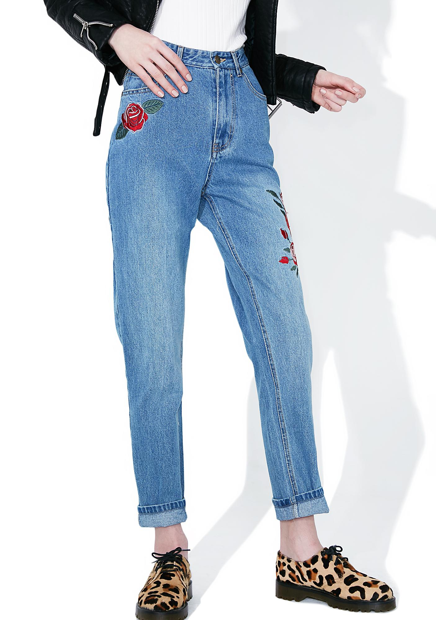 Mink Pink True Beauty Rose Scando Jeans
