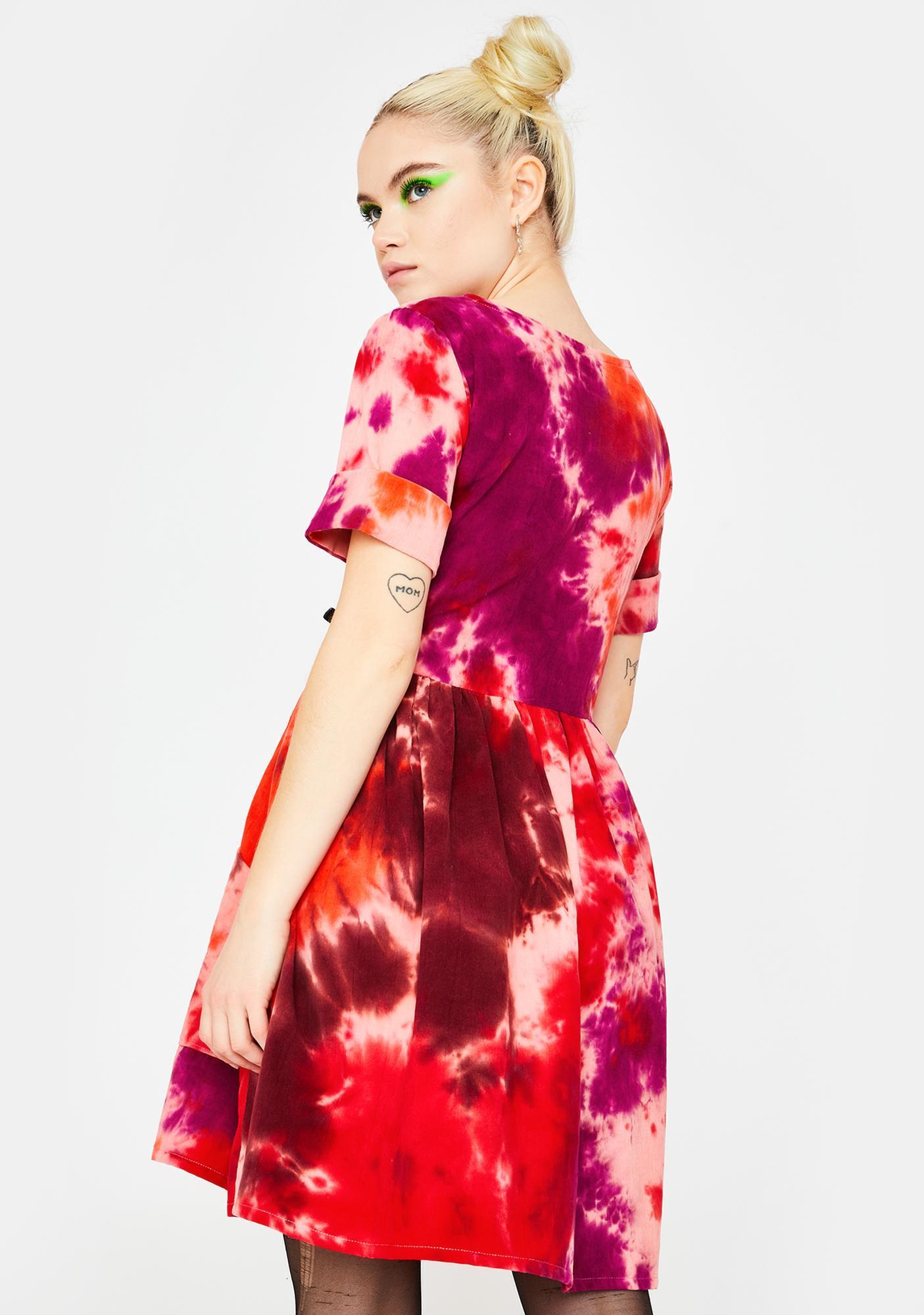Tallulah's Threads Tie Dye Corduroy Dress
