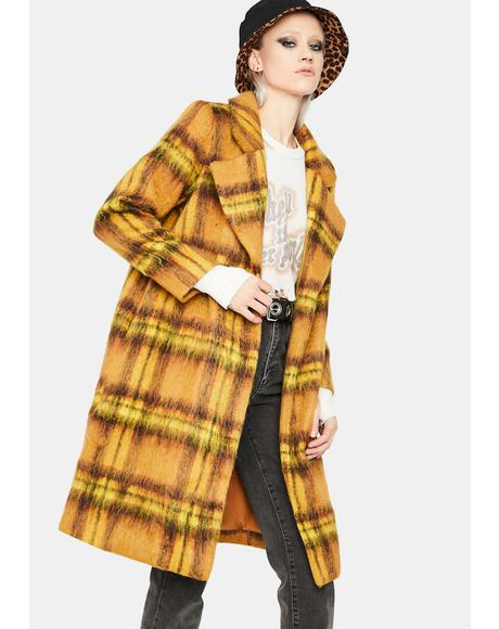 State Of Grace Plaid Coat