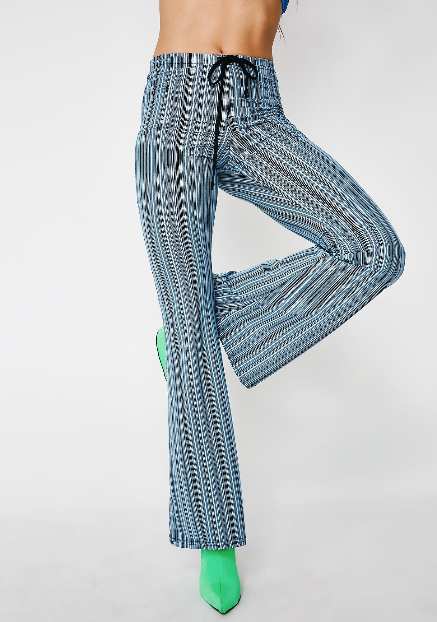American Deadstock Sky Striped Drawstring Pants