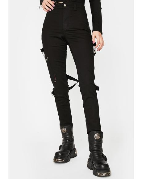 Black Chaos Bondage Pants