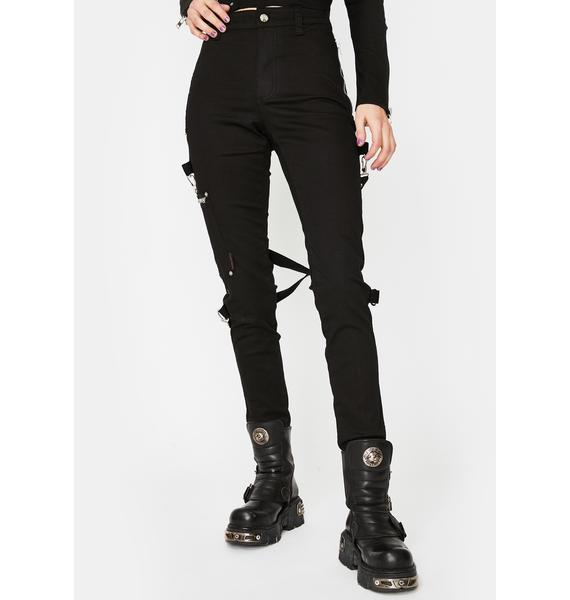 Tripp NYC Black Chaos Bondage Pants