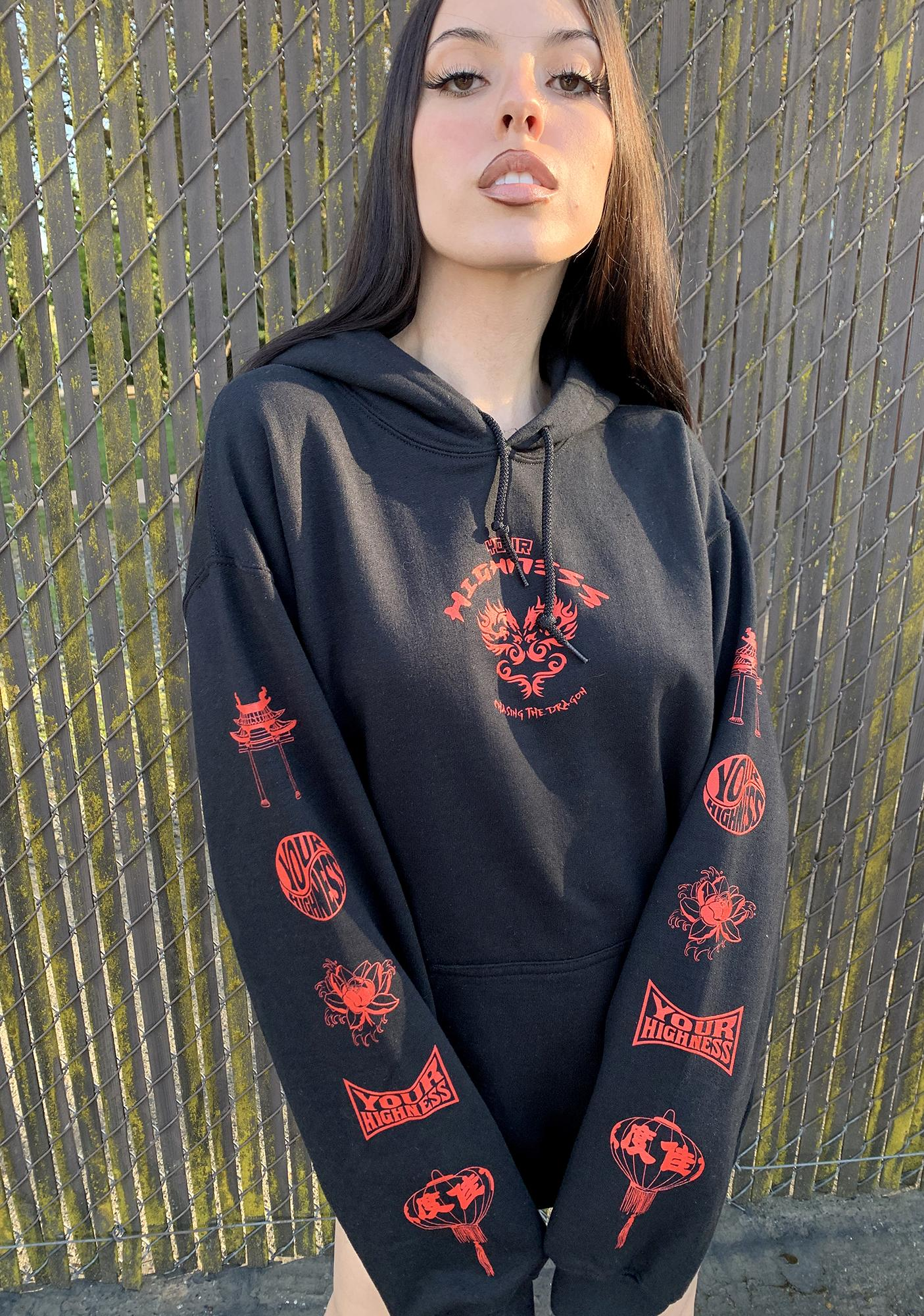 Your Highness Chasing The Dragon Graphic Hoodie