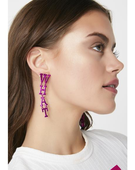 Whateverrrr Statement Earrings