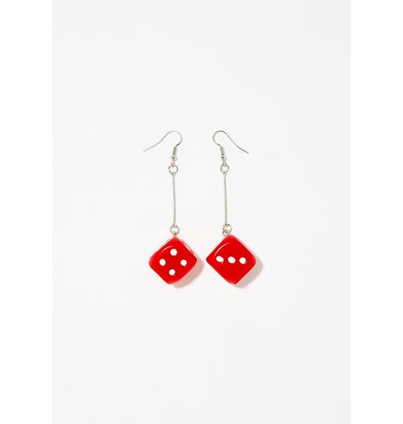 Luck Be A Lady Dice Earrings