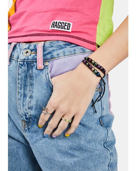 Go Away Eat Me Beaded Bracelets