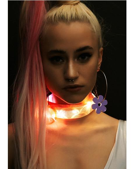 Coral Light-Up Mermaid Choker