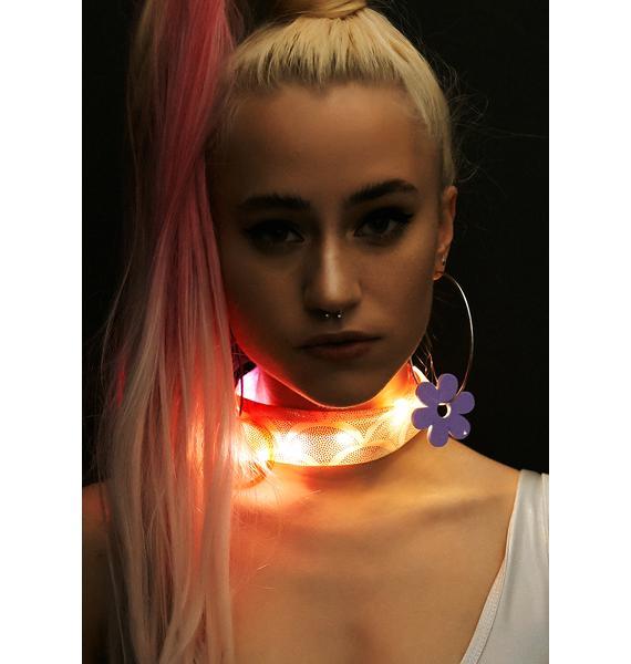 J Valentine Coral Light-Up Mermaid Choker