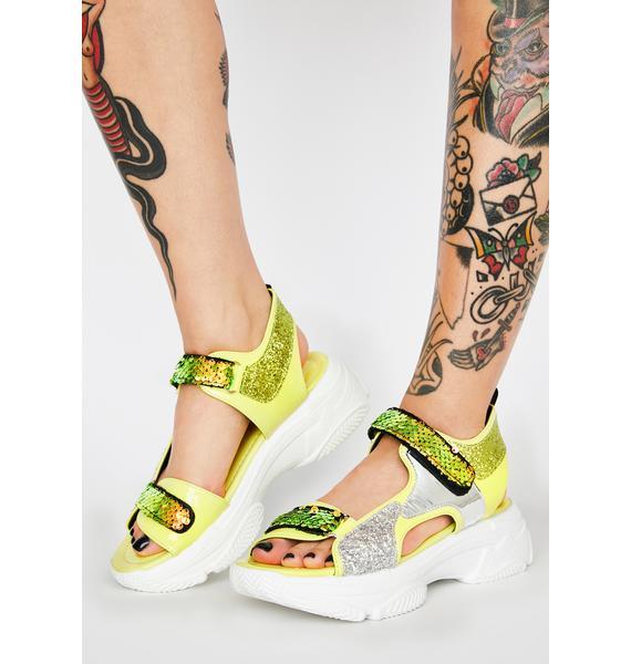 Mastership Sequin Sandals