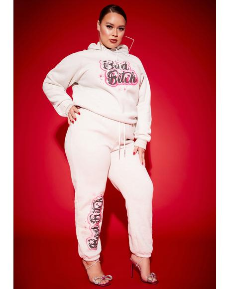 Always A Bad Bish Vibe Airbrushed Fleece Sweatpants