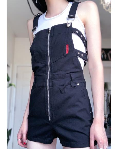 Buckle Overall Shorts