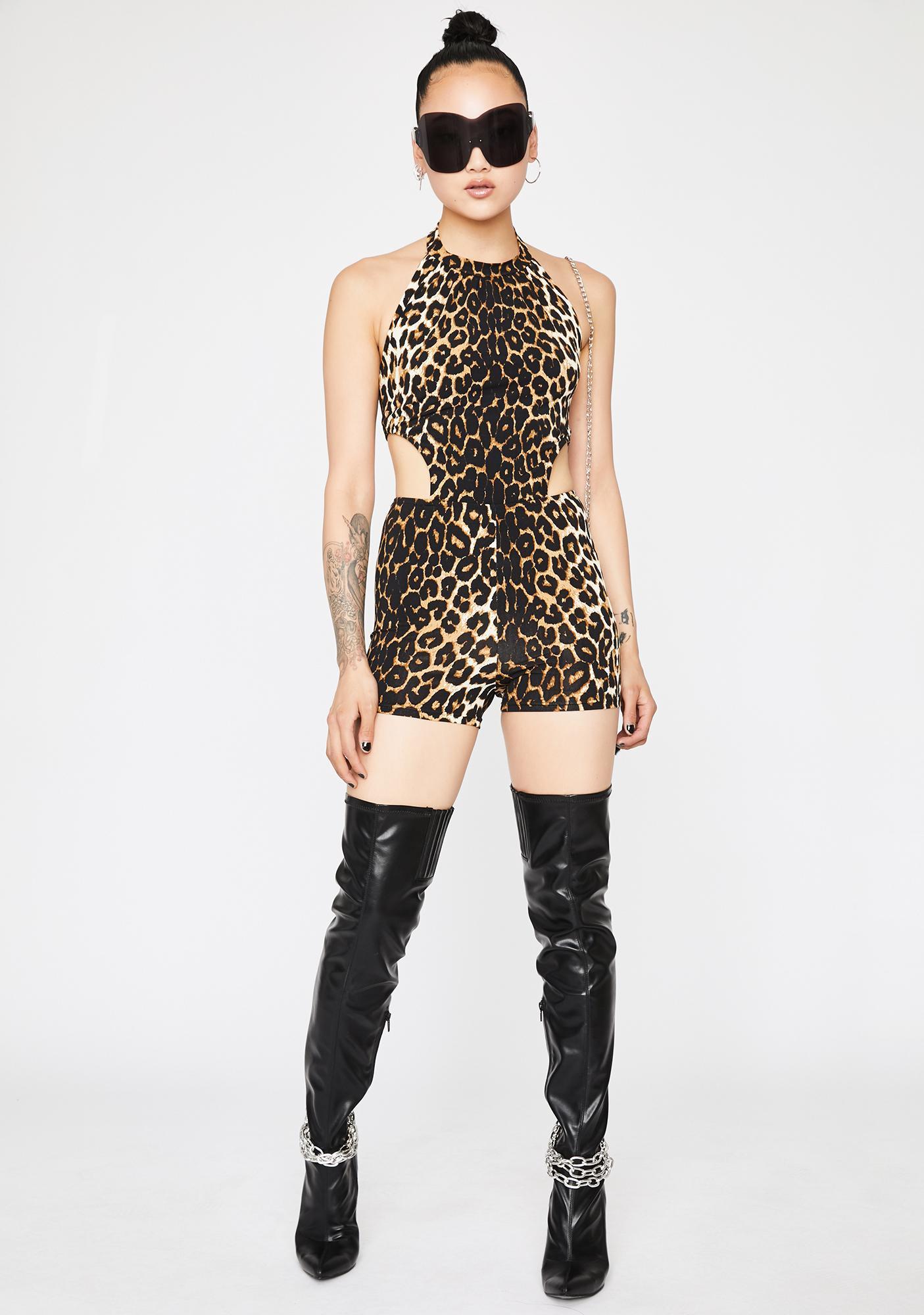 Feral Heart Leopard Romper