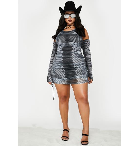 Poster Grl Lookin' Like New Money Mesh Dress