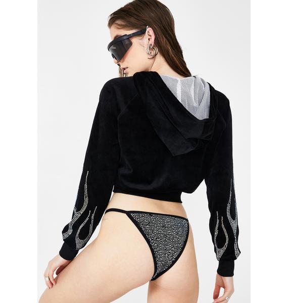 Namilia Crystal Flame Velour Jacket