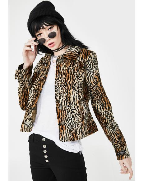 90s Leopard Jacket