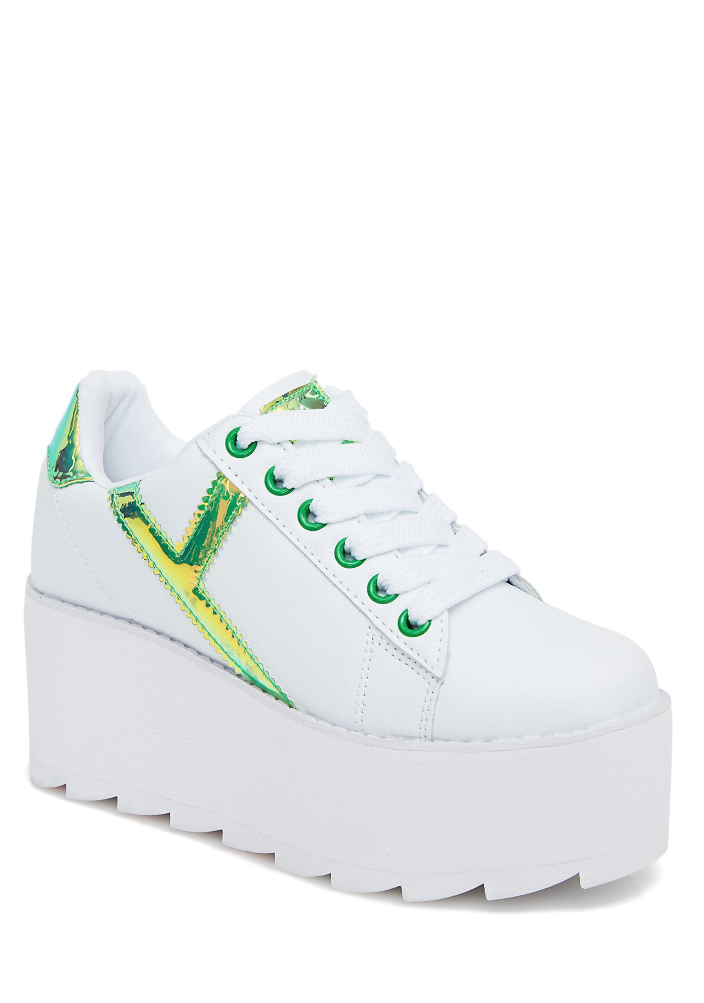 Y.R.U. Kermit Lala Strype Platform Sneakers