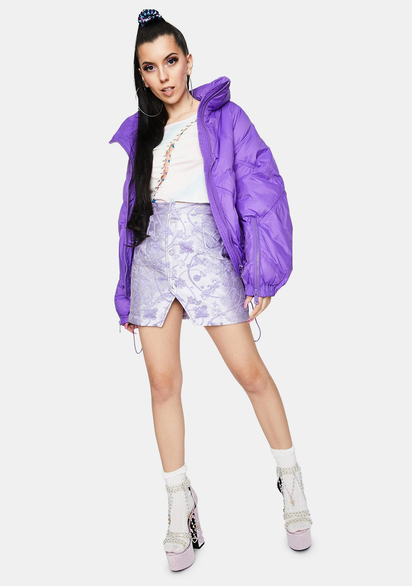 ZEMETA Purple Picky Chain Skirt