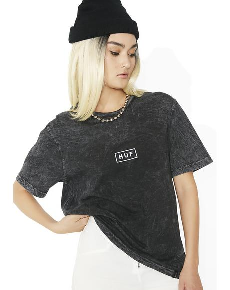 Black Bar Logo Overdyed Tee