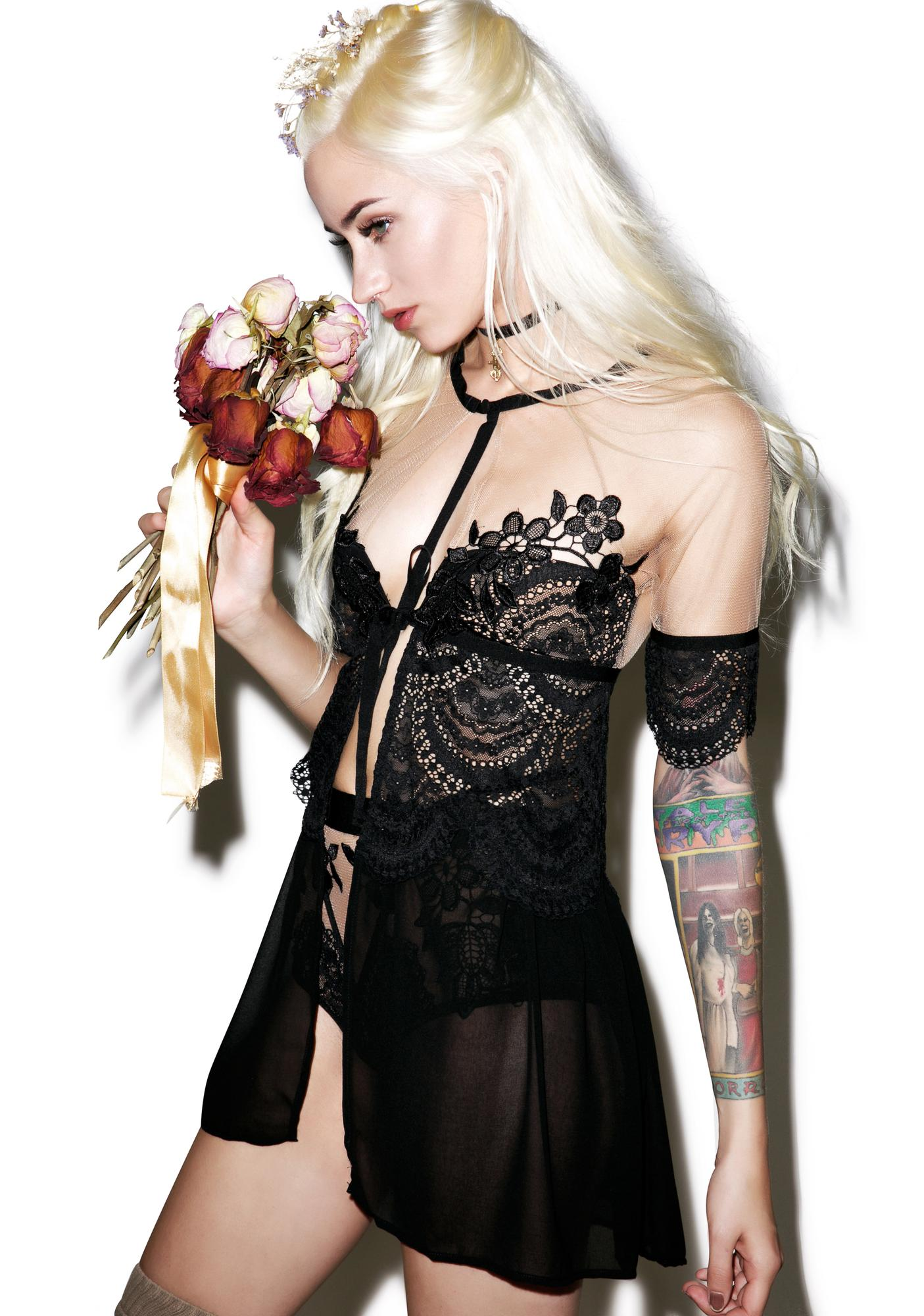 For Love & Lemons Lucia Chiffon Robe