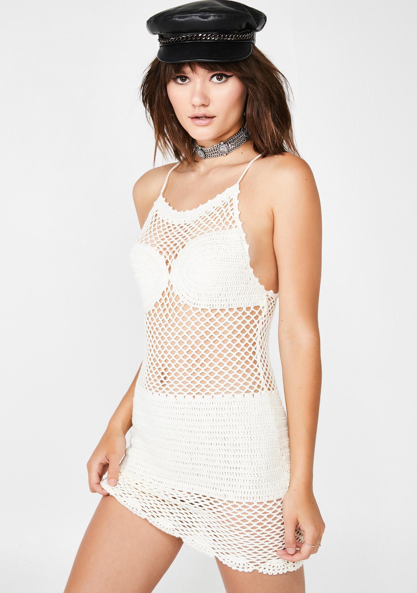 Paradise Glow Crochet Dress