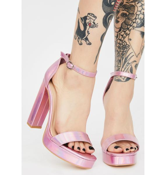 Sugar Make An Entrance Holographic Heels